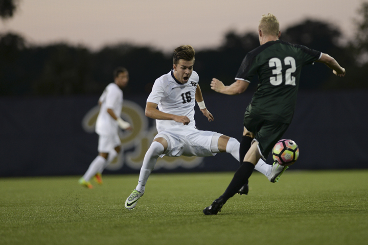 Josh+Coan+%2816%29+took+Pitt%27s+only+shot+on+goal+against+Penn+State+Tuesday+night+at+Jeffrey+Field+in+State+College.+John+Hamilton+%7C+Senior+Staff+Photographer