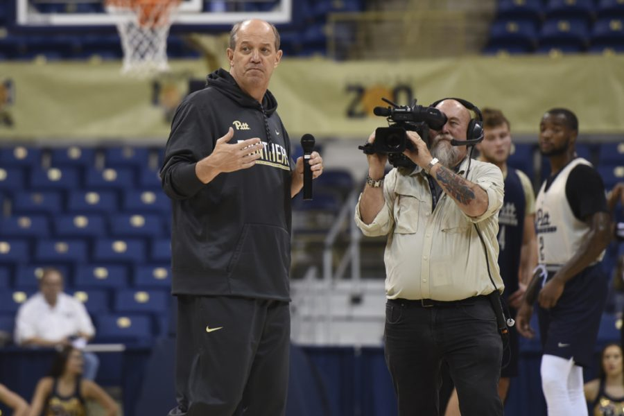 Pitt+men%27s+basketball+head+coach+Kevin+Stallings+received+the+third+verbal+commitment+to+the+Panthers%27+2017+recruiting+class+on+Wednesday.+Matt+Hawley+%7C+Staff+Photographer