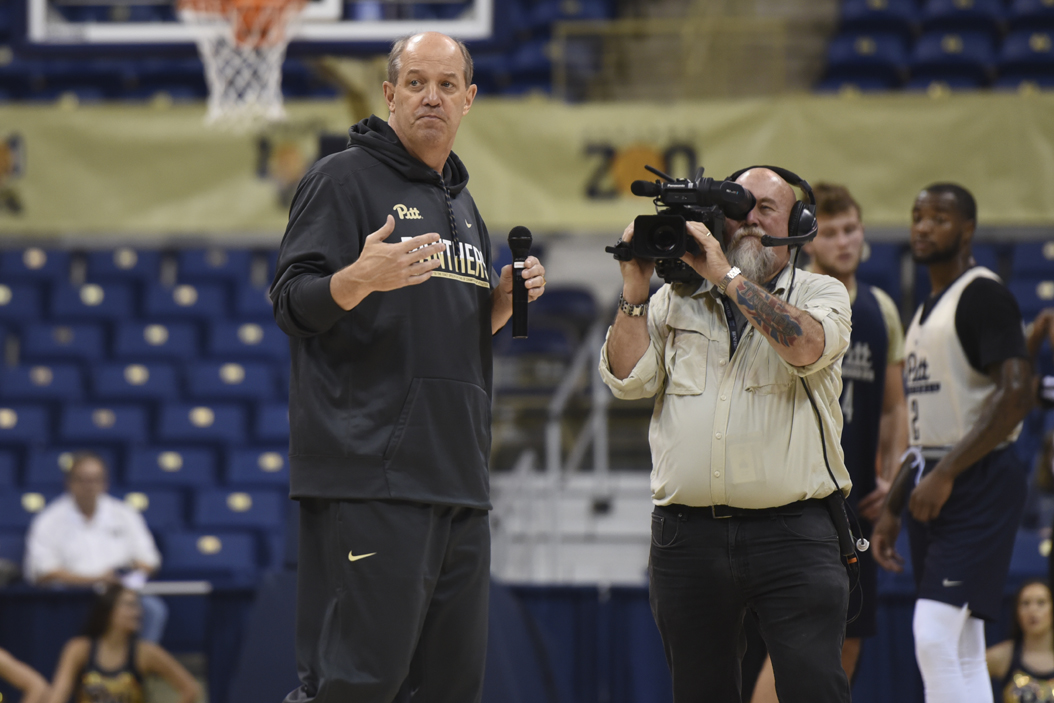 Pitt men's basketball head coach Kevin Stallings received the third verbal commitment to the Panthers' 2017 recruiting class on Wednesday. Matt Hawley | Staff Photographer
