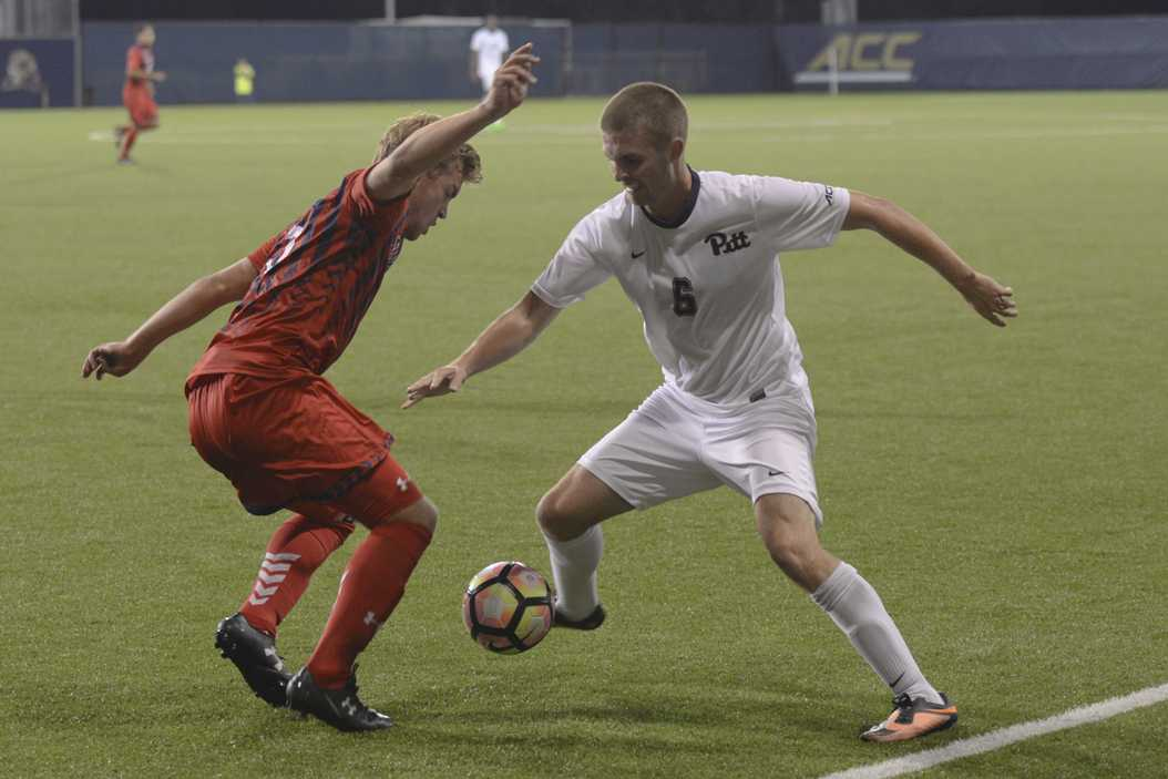 The Pitt men's soccer team fell in a home shutout to the Saint Mary's Gaels at Ambrose Urbanic Field Monday Night. Wenhao Wu | Senior Staff Photographer