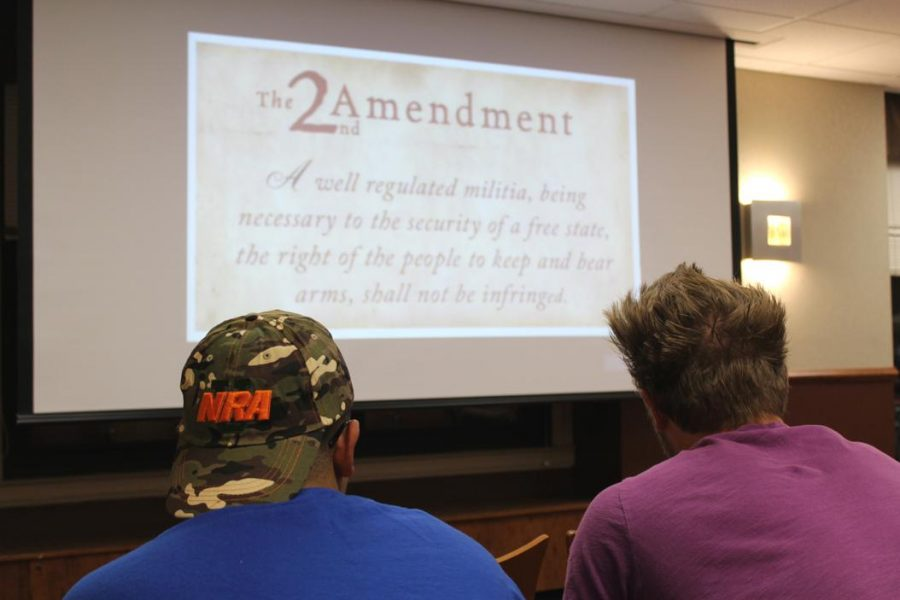 Christian+Ragosta+from+the+NRA+talked+to+Pitt+students+about+gun+rights+and+safety.%7C+Katie+Krater%2C+Staff+Photographer