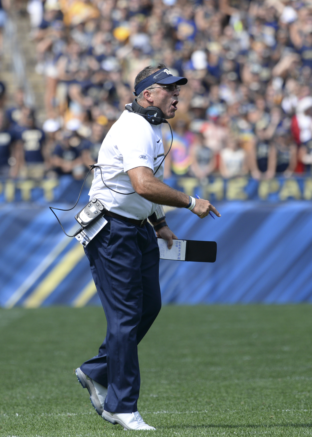 The ACC fined Pitt football coach Pat Narduzzi $5,000 for words critical of referees' calls Thursday night against Virginia Tech. Jeff Ahearn | Senior Staff Photographer