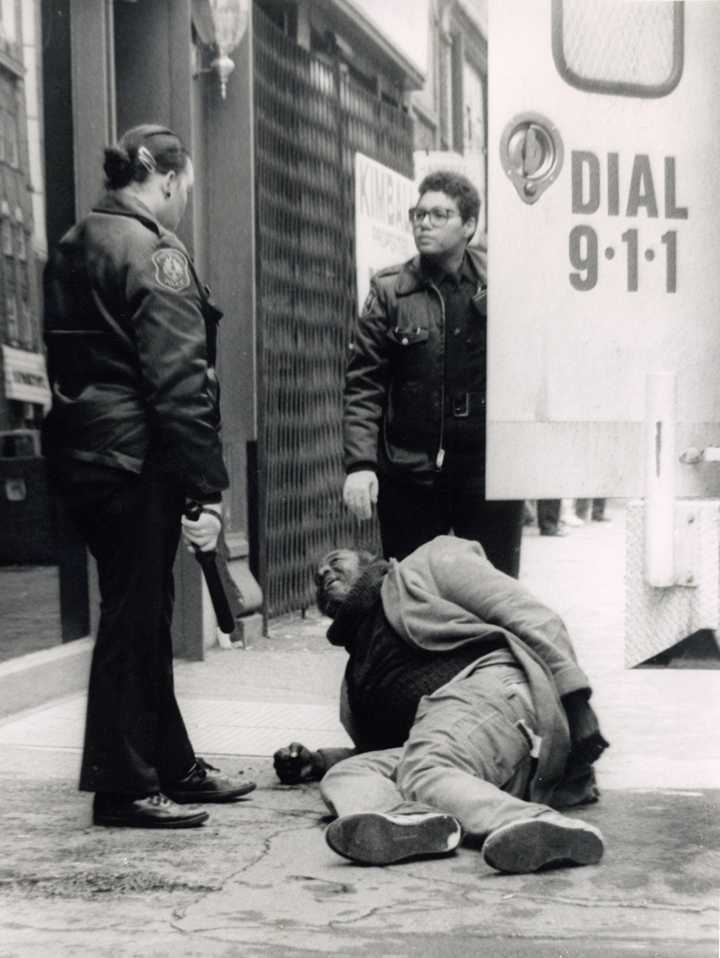 Pittsburgh Police stand over a civilian on the sidewalk | Pitt News File Photo
