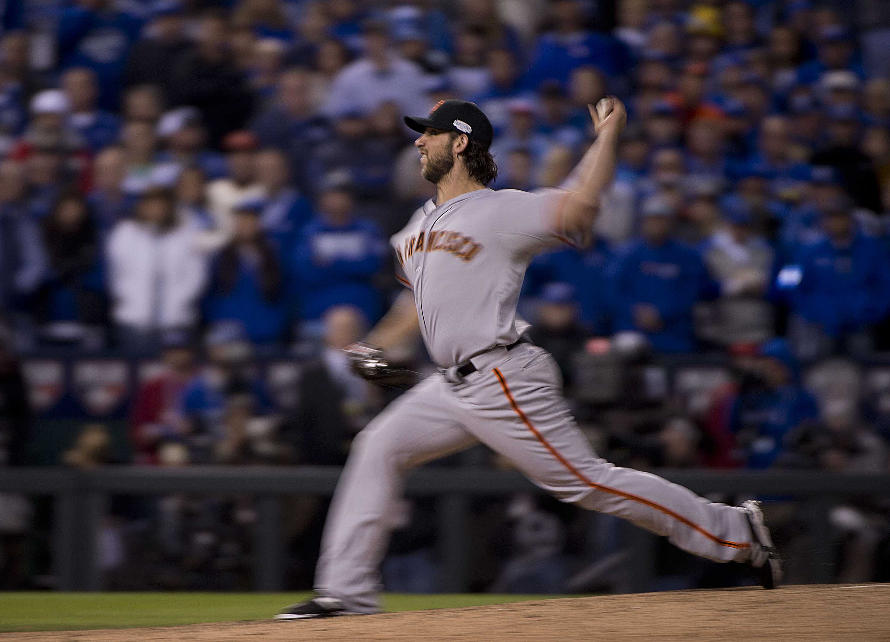 Madison Bumgarner came out of the bullpen to pitch the San Francisco Giants to victory against the Kansas City Royals in Game 7 of the 2014 World Series. The Giants won, 3-2, to capture the Series title. (TNS)