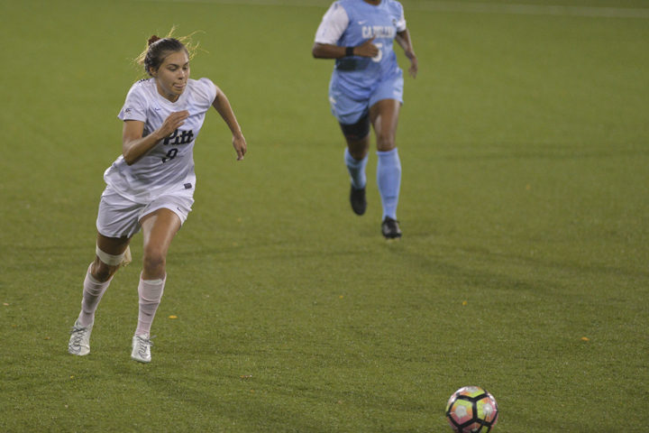 The+Pitt+women%27s+soccer+team+failed+to+get+a+shot+on+goal+in+a+3-0+loss+to+the+No.+18+North+Carolina+Tar+Heels+Thursday+night.+Julia+Zhu+%7C+Staff+Photographer