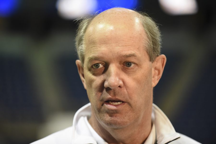 Kevin+Stallings+is+entering+his+first+year+as+Pitt%27s+men%27s+basketball+head+coach.+Matt+Hawley+%7C+Staff+Photographer