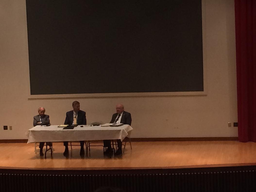 University officials met in Posvar Hall to discuss the upcoming vice chancellor of research position. Lauren Rosenblatt   News Editor