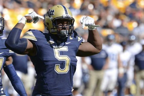 Pitt senior defensive end Ejuan Price is projected as a fifth-round pick in the 2017 NFL Draft by CBS Sports. Jeff Ahearn | Senior Staff Photographer