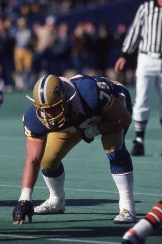 Craig Heyward (79) played for the Panthers from 1981 to 1984. Courtesy of Pitt Athletics