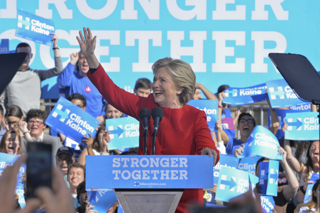 Hillary Clinton made four campaign stops the day before voting began. | Dagmar Seppala | Staff Photographer