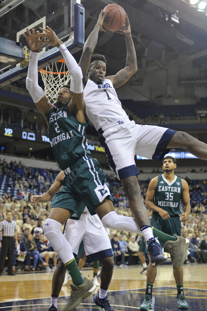 Pitt senior point guard Jamel Artis drives to the rim in a game against Eastern Michigan. Meghan Sunners | Senior Staff Photographer