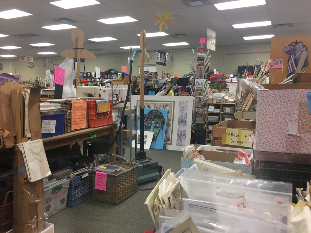 At Point Breeze's Center for Creative Reuse, visitors can repurpose donated objects for craft projects. Courtesy of Center for Creative Reuse