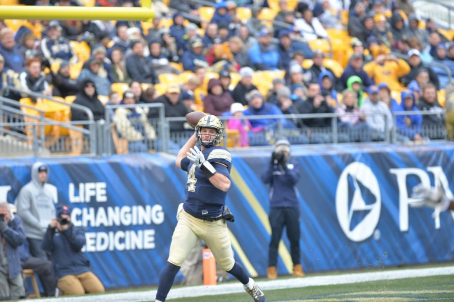 Pitt QB Nathan Peterman finished the regular season with 2,351 passing yards and 22 passing touchdowns to go with only five interceptions. Steve Rotstein | Contributing Editor