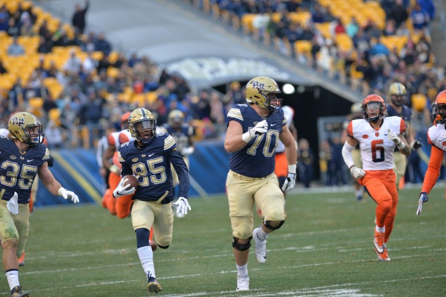 Maurice Ffrench's 77-yard touchdown run was Pitt's third touchdown of the game to come on the opening play of a drive. Steve Rotstein | Contributing Editor