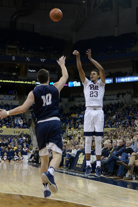 Sophomore guard Cameron Johnson (23) tied for the team lead with 17 points in an 84-79 win against Buffalo. Wenhao Wu | Senior Staff Photographer