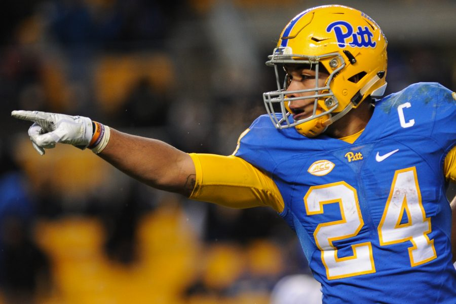 Pitt+running+back+James+Conner+tallied+160+total+yards+and+three+touchdowns+in+Pitt%27s+76-61+win+over+Syracuse.+Jordan+Mondell+%7C+Asst.+Visual+Editor