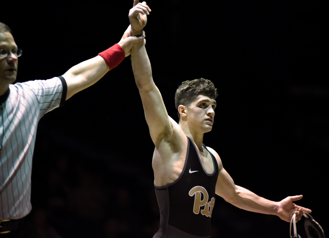 Dom Forys was one of two Panthers to record a win during Friday's match against Lehigh. | Matt Hawley, Staff Photographer