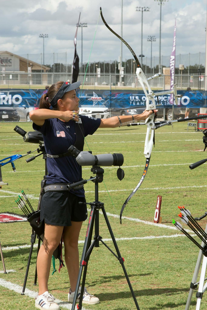 First-year student Julia Lam, one of three Pitt students aiming to revive the Pitt Archery Club, participates at the 2016 US Olympic Team Trials. | Courtesy of Julia Lam