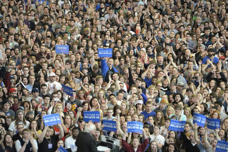 Bernie+Sanders+held+a+rally+in+Pittsburgh+during+the+Democratic+primaries.++An+estimated+8500+people+attended+the+rally+at+the+David+Lawrence+Convention+Center.+Kate+Koenig+%7C+Senior+Staff+Photographer