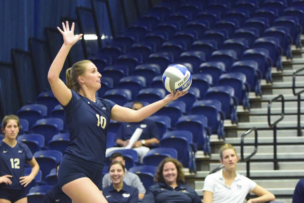 Mariah Bell (10) accumulated 30 kills over the weekend for the Panthers. Edward Major II / TPN File Photo