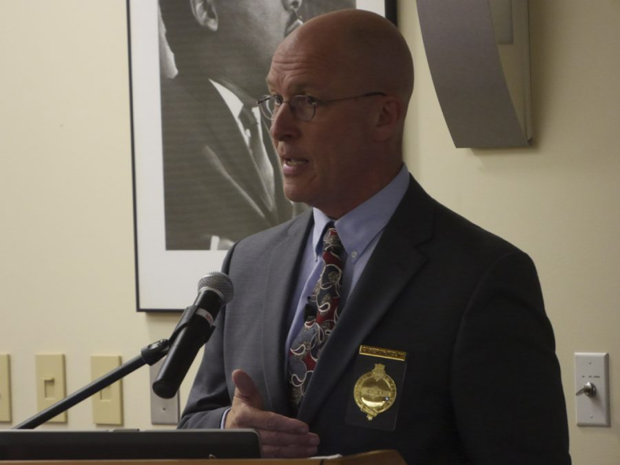 Pittsburgh+Police+Chief+Cameron+McLay%2C+who+announced+his+resignation+on+Friday%2C+will+work+in+his+current+post+until+Nov.+8.+Pitt+News+File+Photo