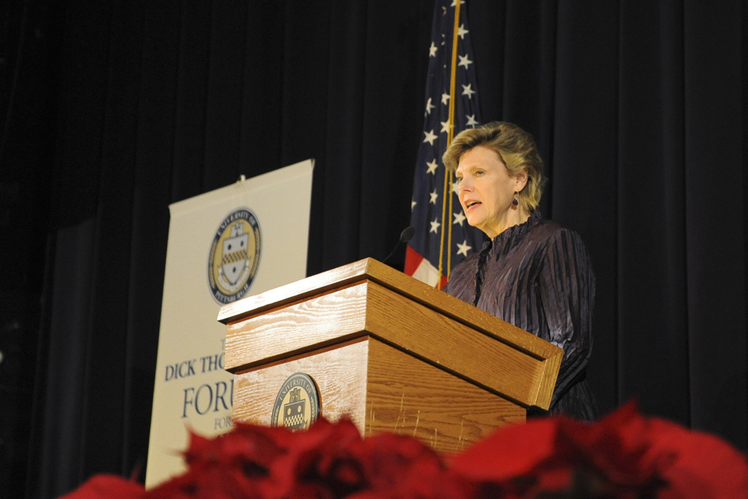 NPR correspondent Cokie Roberts spoke Tuesday night about Trump and the election. | Stephen Caruso, Senior Staff Photographer