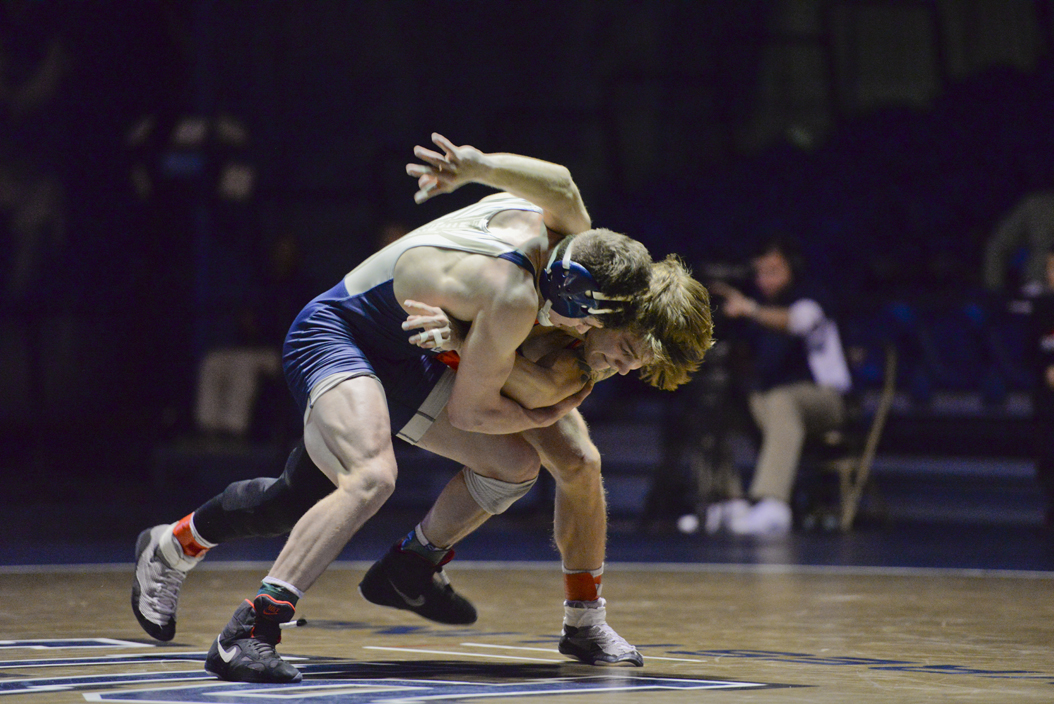 Junior Dom Forys sacrificed his undefeated record against the Cowboys' Kaid Brock. Wenhao Wu | Senior Staff Photographer