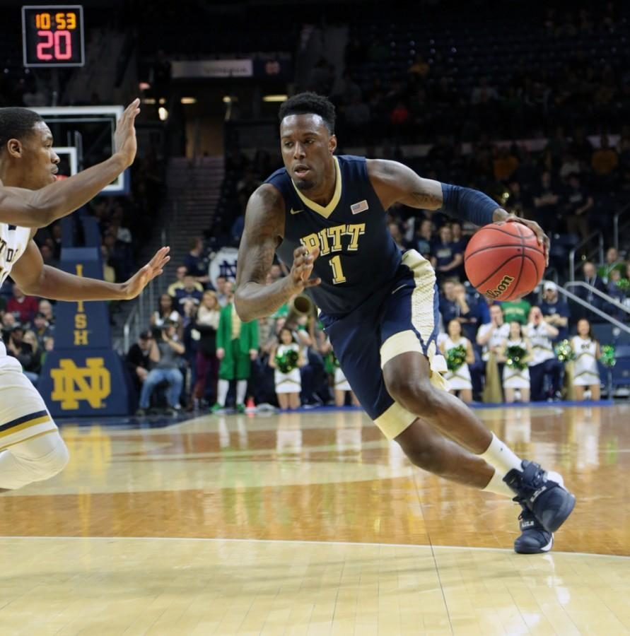 Pitt senior Jamel Artis (1) scored 25 points in the Panthers' 78-77 overtime loss to Notre Dame on New Year's Eve. TPN File Photo