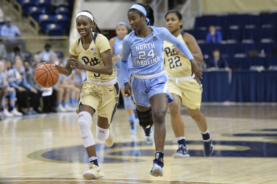Pitt+sophomore+forward+Kauai+Bradley+finished+with+a+game-high+17+points+and+10+rebounds+in+the+Panthers%27+68-48+victory+over+North+Carolina.+Anna+Bongardino+%7C+Staff+Photographer