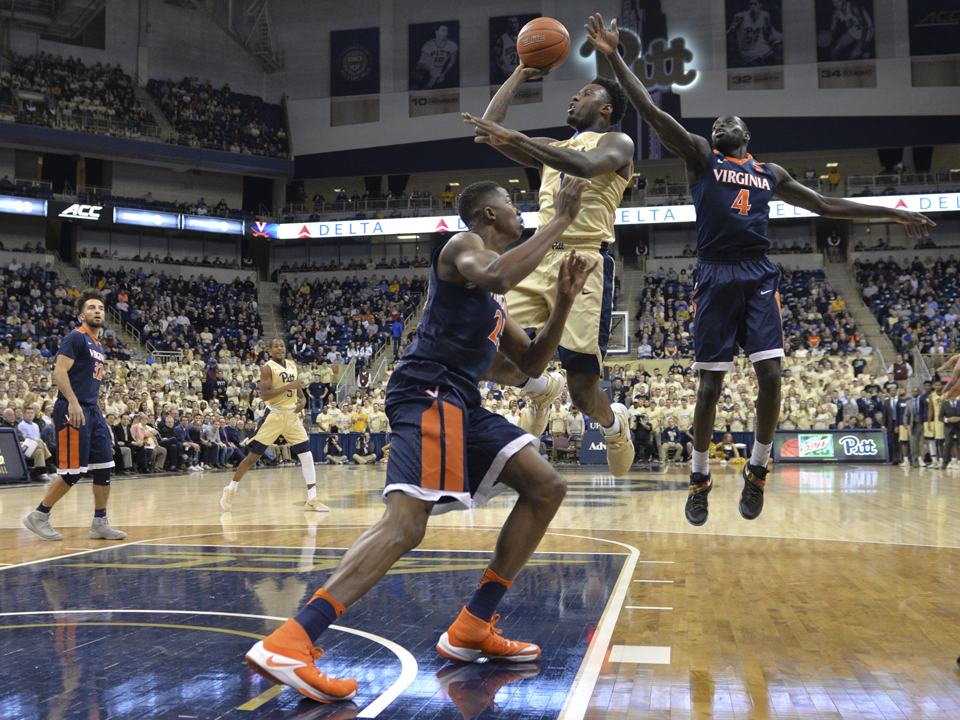 Pitt point guard Jamel Artis (1) led the Panthers with 24 points in an 88-76 overtime win over No. 11 Virginia. Elaina Zachos | Senior Staff Photographer