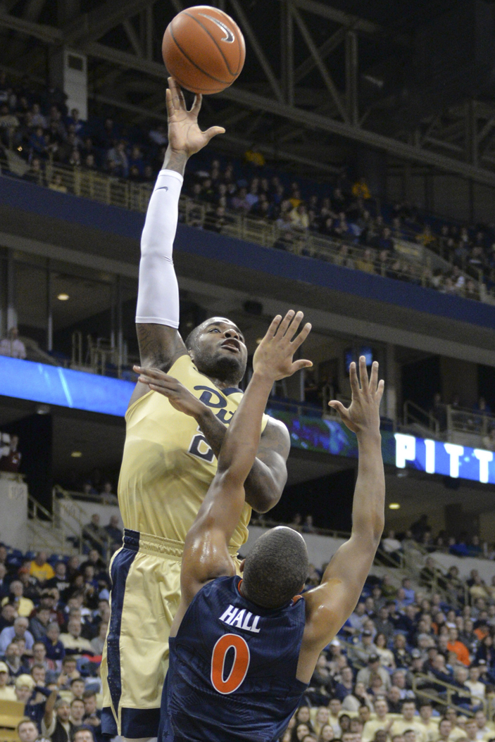 Senior forward Michael Young (23) scored 19 points to help Pitt's seniors earn their first win against the Virginia Cavaliers. Elaina Zachos | Senior Staff Photographer