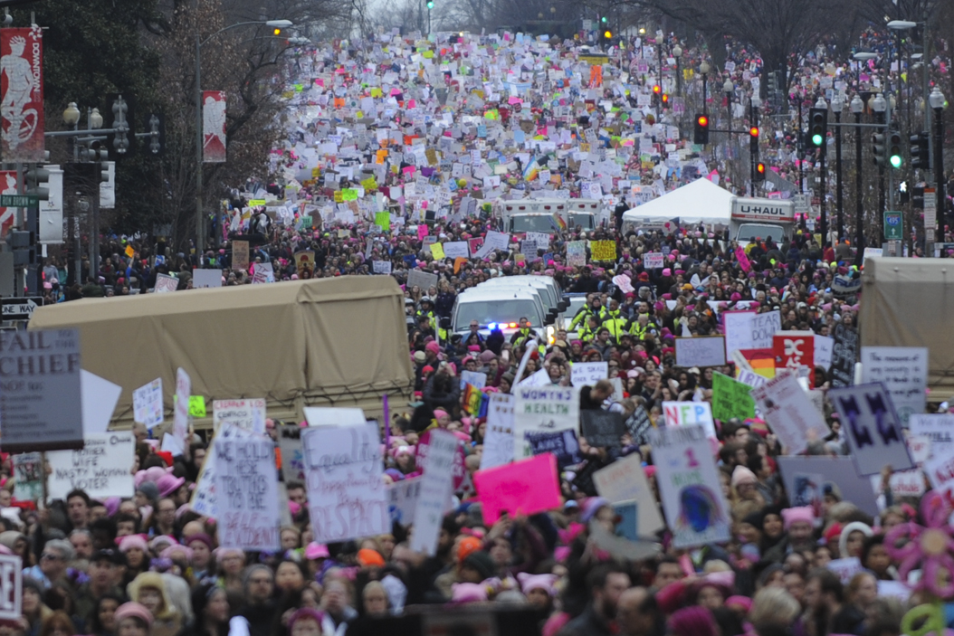 The number of marchers vastly exceeded the organizers plans of 200,000, causing the route to change a few times. John Hamilton | Visual Editor