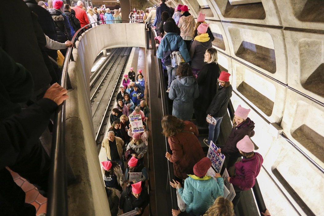 DC Metro reported over 1 million riders on the metro on the day of the march. John Hamilton | Visual Editor