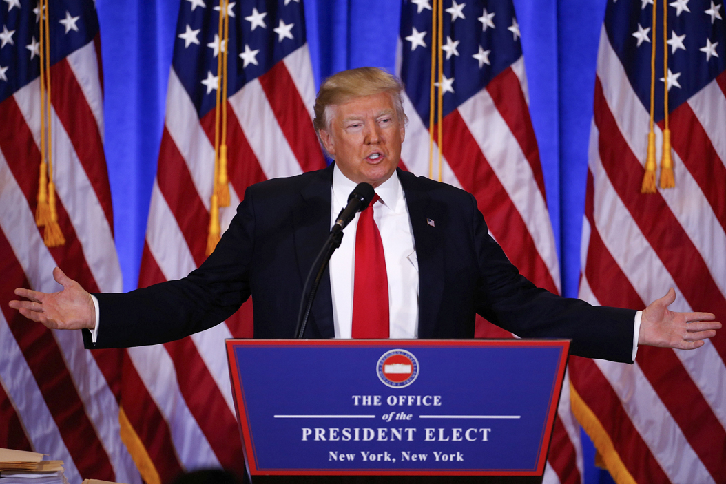 President-elect Donald Trump will become the 45th president on Jan. 20.|Gary Hershorn/Zuma Press/TNS