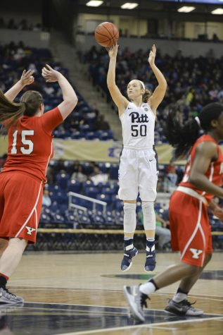 Pitt sophomore forward Brenna Wise has surpassed 15 points three times in January, including a career-high 26 Sunday against Virginia. Abigail Self | Staff Photographer