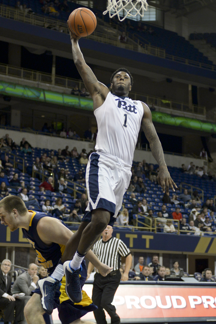 Pitt senior Jamel Artis received a lofty comparison from Louisville head coach Rick Pitino after his 43-point performance Wednesday night. Wenhao Wu   Senior Staff Photographer