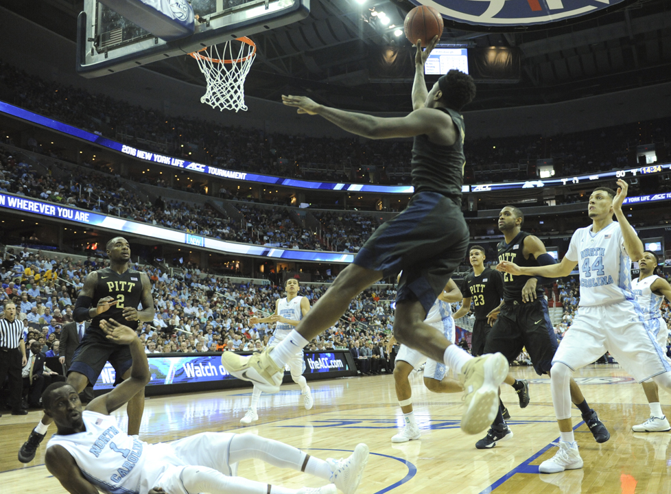 Pitt senior Jamel Artis attempts a shot during the Panthers' loss to UNC in the 2016 ACC Tournament. John Hamilton | Visual Editor