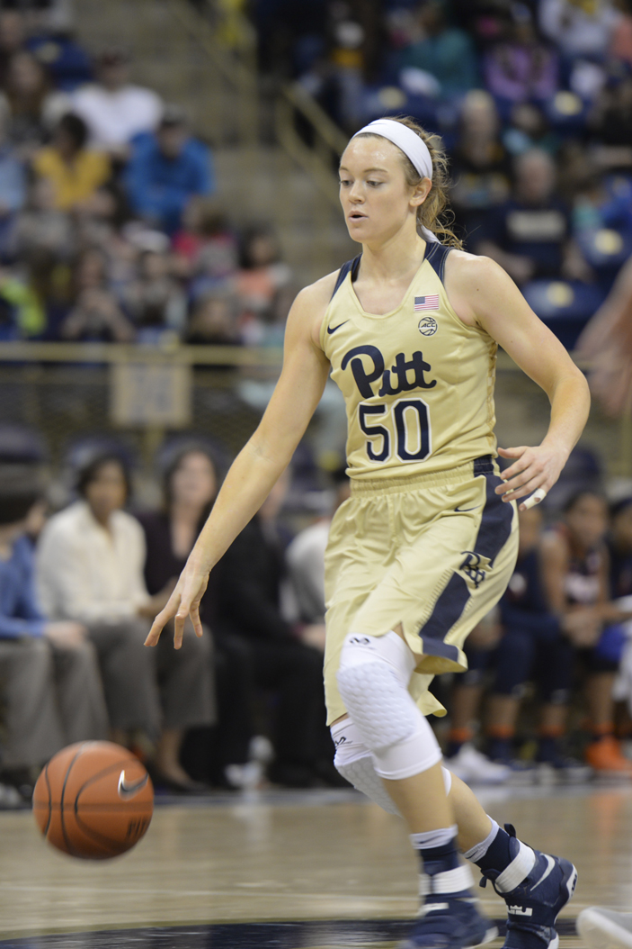 Pitt sophomore forward Brenna Wise enters Thursday night's matchup with No. 18 NC State coming off a career-best performance against Virginia. Jordan Mondell | Layout Editor