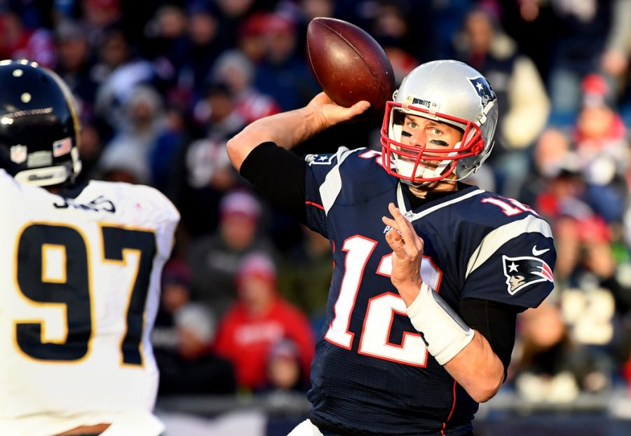 New+England+Patriots+quarterback+Tom+Brady+has+a+chance+to+become+the+first+QB+to+win+five+Super+Bowl+titles+next+Sunday.+%28Wally+Skalij%2FLos+Angeles+Times%2FTNS%29