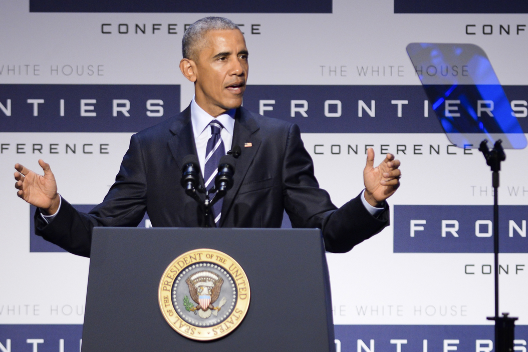President Obama speaks during the White House Frontiers Conference in October at Carnegie Mellon University. Jordan Mondell | Layout Editor