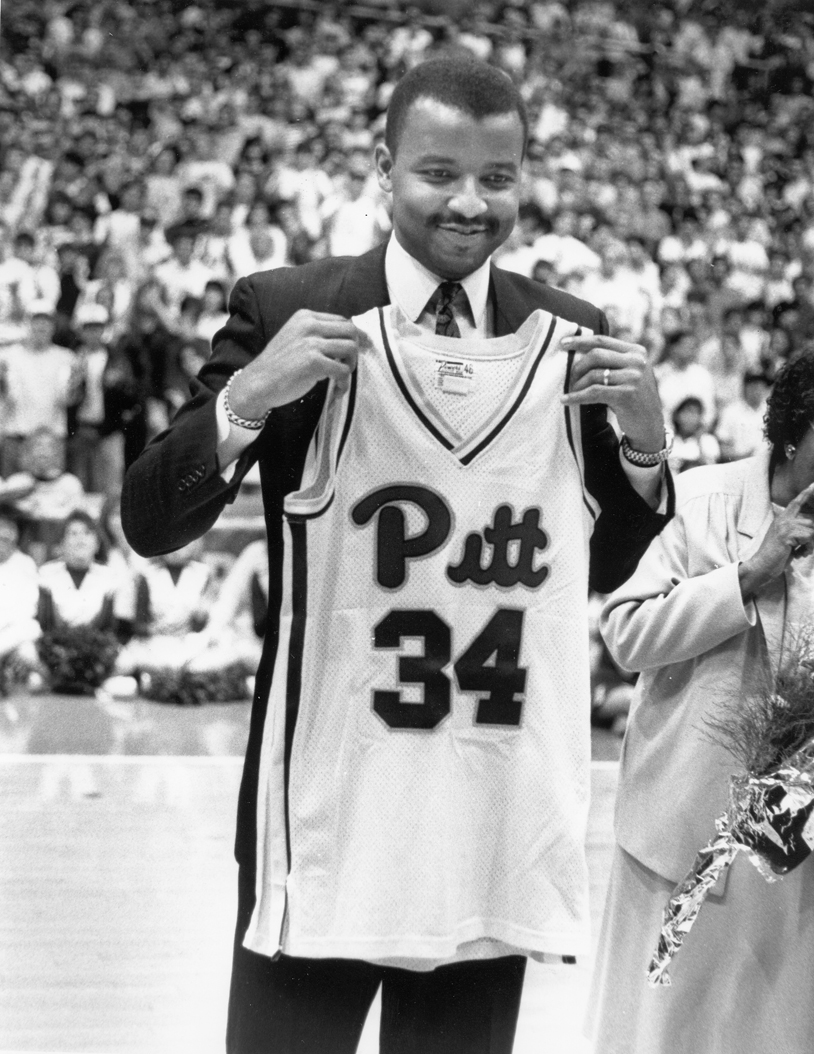 Pitt retired Billy Knight's number 34 jersey in 1989.