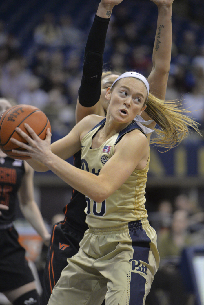 Pitt sophomore forward Brenna Wise scored a career-high 31 point, including 25 in the second half, to lead the Panthers to a 72-64 win over Virginia Tech. Thomas Yang | Staff Photographer