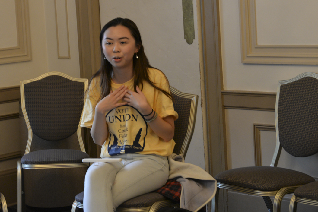 Natalie Cheuk, a junior Political Science and Linguistics major, discusses her struggles of keeping her Chinese identity while moving to North Carolina at age 10.  Kyleen Considine | Staff Photographer
