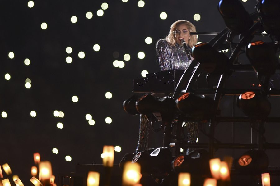 Lady+Gaga+performs+at+half+time+of+Super+Bowl+LI+on+Sunday.+Lionel+Hahn%2FAbaca+Press%2FTNS