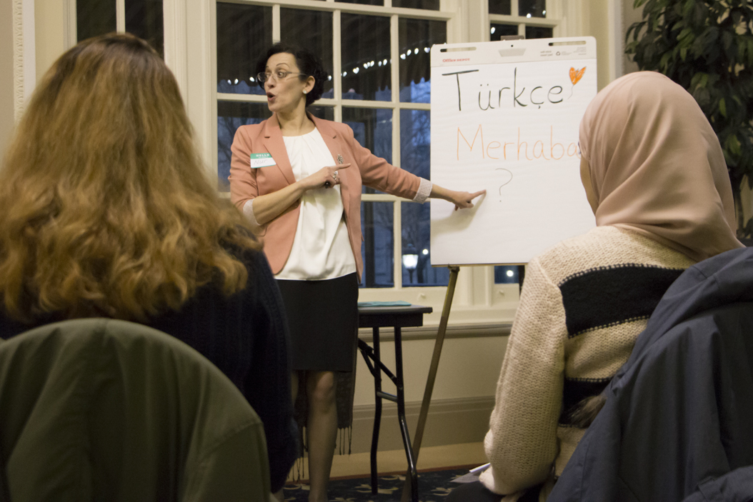 Pitt students had the opportunity to learn Turkish, among other languages, during an event sponsored by the Department of Linguistics. Evan Meng | Staff Photographer