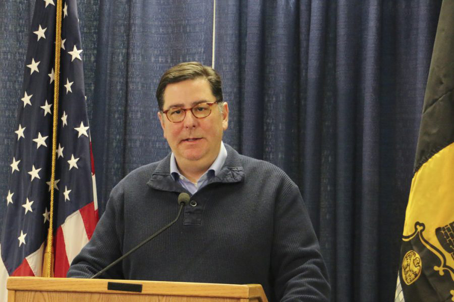 Mayor Bill Peduto spoke on Jan. 31 about the water advisory and this week revealed plans to distribute free water filters to residents affected by high lead levels. James Evan Bowen-Gaddy | Contributing Editor