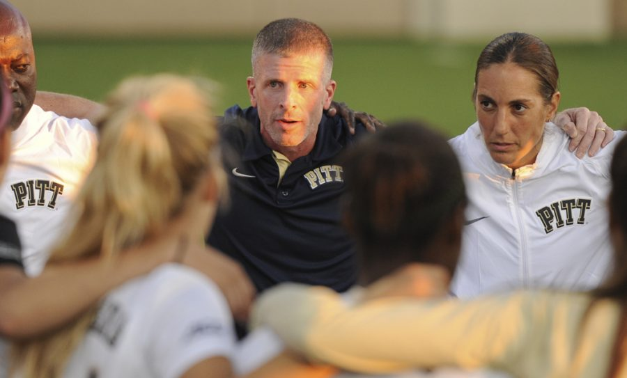 Pitt+women%27s+soccer+head+coach+Greg+Miller+will+coach+five+new+players+next+season.+Wenhao+Wu+%7C+Senior+Staff+Photographer
