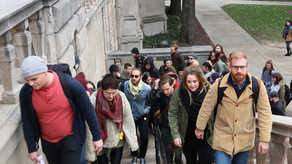 Pitt students delivered a letter to Chancellor Gallagher asking he make Pitt a santuary campus in November. Stephen Caruso | Online Visual Editor