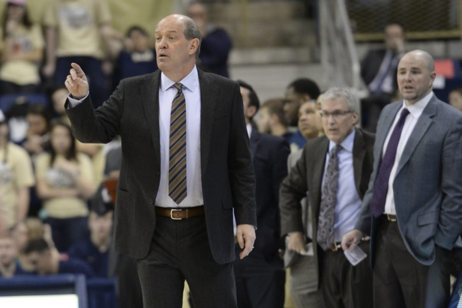 Pitt+head+basketball+coach+Kevin+Stallings+brought+two+more+recruits+into+the+program+in+the+past+week.+Jeff+Ahearn+%7C+Senior+Staff+Photographer