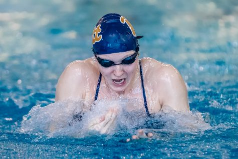 Junior Lina Rathsack broke Pitt swimming records on back-to-back days at the ACC Championships in Atlanta. Courtesty of Jeff Gamza/Pitt Athletics